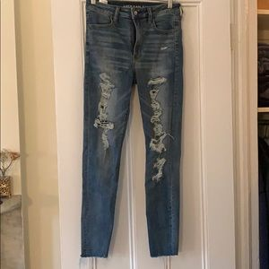 American Eagle, high-waisted, stretch skinny jeans